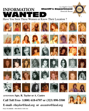 Poster of possibly missing women
