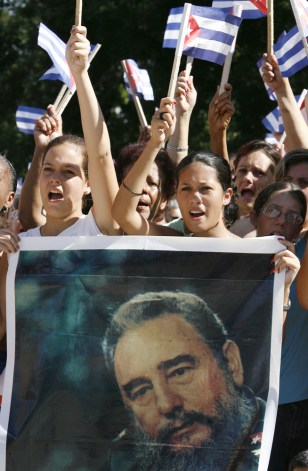 IMAGE: Pro-Castro demonstration