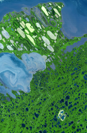 IMAGE: SATELLITE VIEW OF NATIONAL PETROLEUM RESERVE IN ALASKA