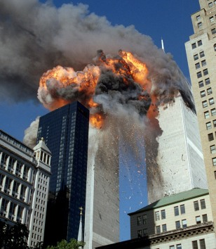 Image: World Trade Center on fire
