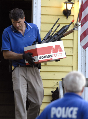 IMAGE: WEAPONS FOUND IN HOME