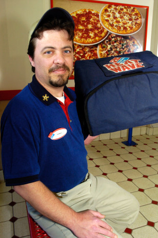 Image: Domino's pizza delivery driver Jim Pohle