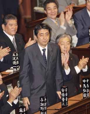 Japan's newly elected Prime Minister Shinzo Abe is ouspoken on revising the country's constitution and promoting patriotic education.