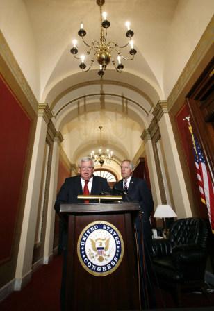 Reps. Dennis Hastert and John Shimkus