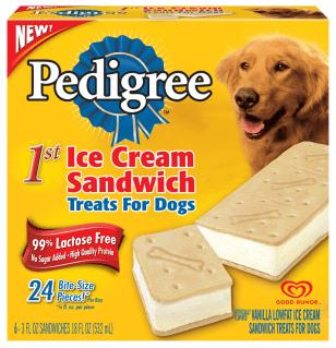 Ice cream treats for dogs