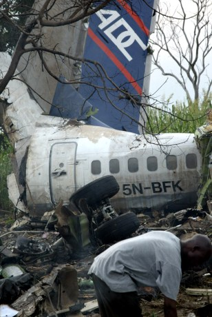 IMAGE: Nigerian air crash