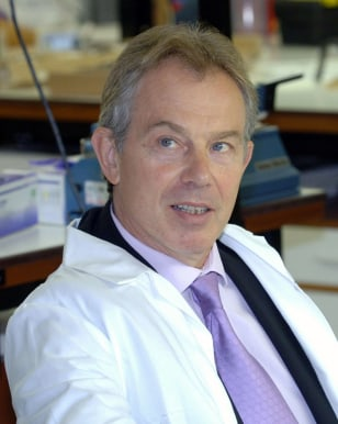Britain's Prime Minister Blair visits Forensic Science Service headquarters in central London