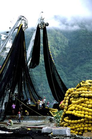 IMAGE: HUGE NETS ON TUNA BOAT