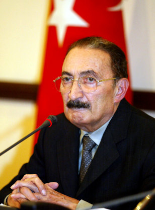 Turkish Prime Minister Bulent Ecevit in August 2002