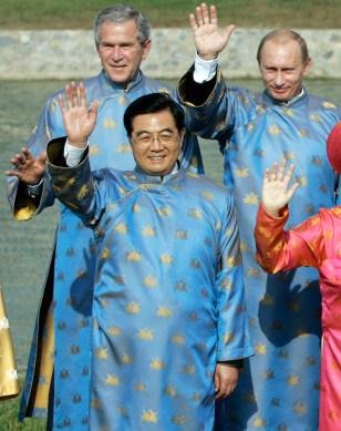 George W. Bush, Vladimir Putin, Hu Jintao