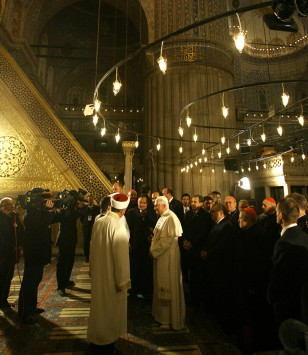 Image: Pope Benedict XVI visits the Blue Mosque