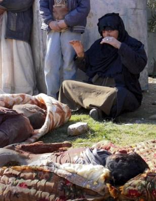 IMAGE: Iraqi woman mourns
