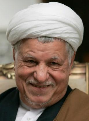 Iran's former president Akbar Hashemi Rafsanjani attends official meeting in Tehran