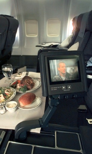 Image: In-flight movie