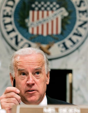 Presidential hopeful U.S. Sen. Joe Biden attends a foreign relations committee hearing on Capitol Hill in Washington