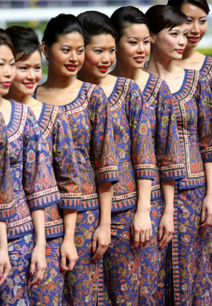 Singapore Airlines flight attendants