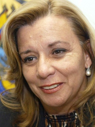 Ecuador defense minister Guadalupe Larriva in Quito, Jan. 3, 2007