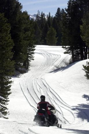 Image: Snowmobiling in Lake Tahoe, Calif.