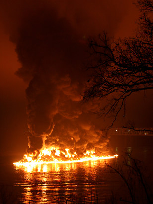 IMAGE: BURNING BARGE