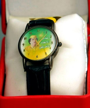 IMAGE: WATCH WITH GADHAFI PICTURE