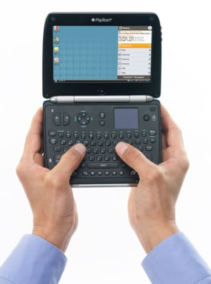The new FlipStart can be used as a handheld 'thumb' computer — and as a laptop.
