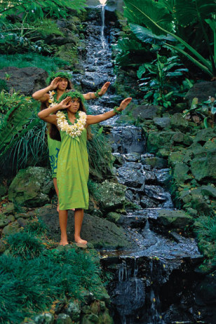 Image: Hula dancers on Kauai