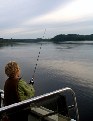 Image: Fishing Kennebec River in Bath, Maine
