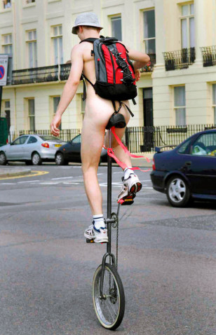Image: Naked cyclists bare all in England