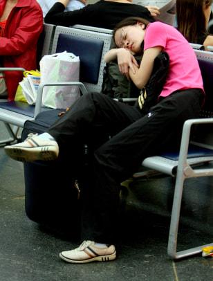 Image: Brazilian passenger waits
