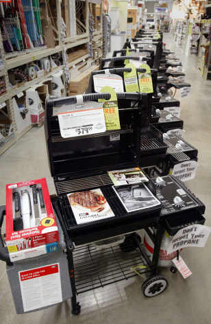 Image: Gas grills at Home Depot