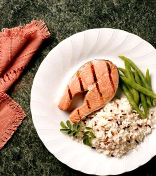Image: Salmon dinner