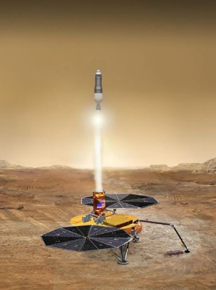 Image: Illustration of Mars liftoff proposal