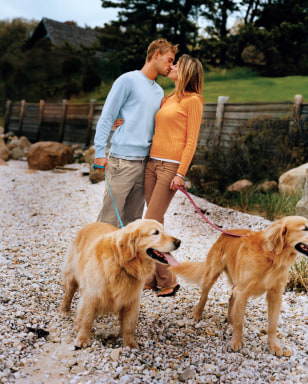 Image: Couple with dogs