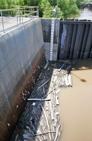 Image: Debris at water treatment facilty