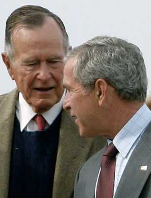 Image: Bush and his father