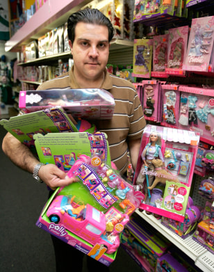 Image: Toy store employee