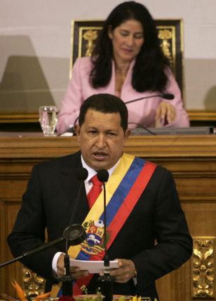 Image: Hugo Chavez, Cilia Flores