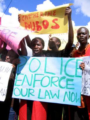 Image: Ugandan protestors