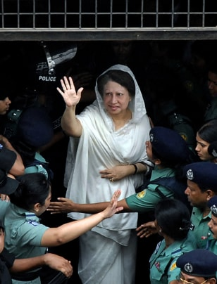 IMAGE: Ex-Prime Minister Khaleda Zia