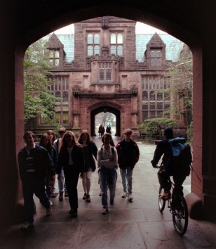 PRINCETON UNIVERSITY STUDENTS BETWEEN CLASSES