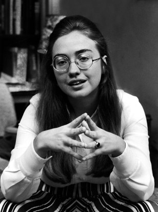 Class leader Hillary Rodham of Wellesley College