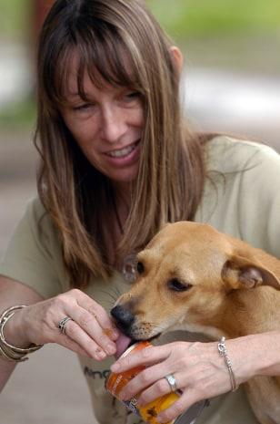 Image: Daniella Wooddell and dog