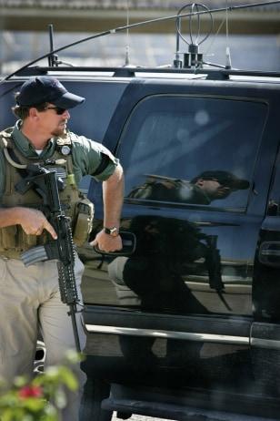 IMAGE: Blackwater guard in Iraq