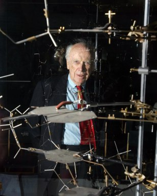 Dr. James Watson poses with the original