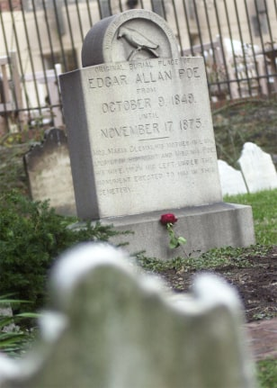 Image: Poe's grave