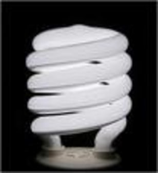 Image: A compact fluorescent lamp (CFL)