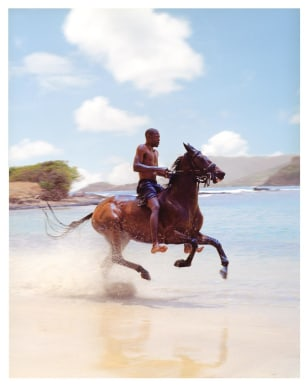 Image: Horeseback riding in St. Lucia, Caribbean