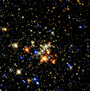 Image: Cluster of young stars in the Milky Way