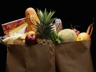 Image: bags of groceries