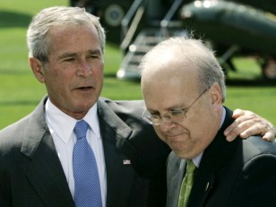 Image: President George W. Bush with Karl Rove